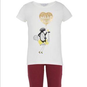 Little Marc Jacobs Gold Balloon Penguin Tee